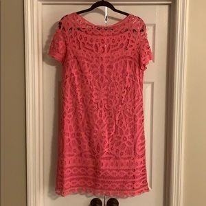 Lilly Pulitzer lace shift dress pink